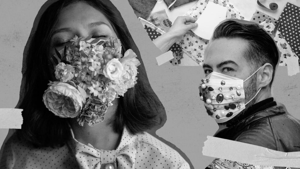 Masks are here to stay. And they're quickly ending up being a way to express ourselves.