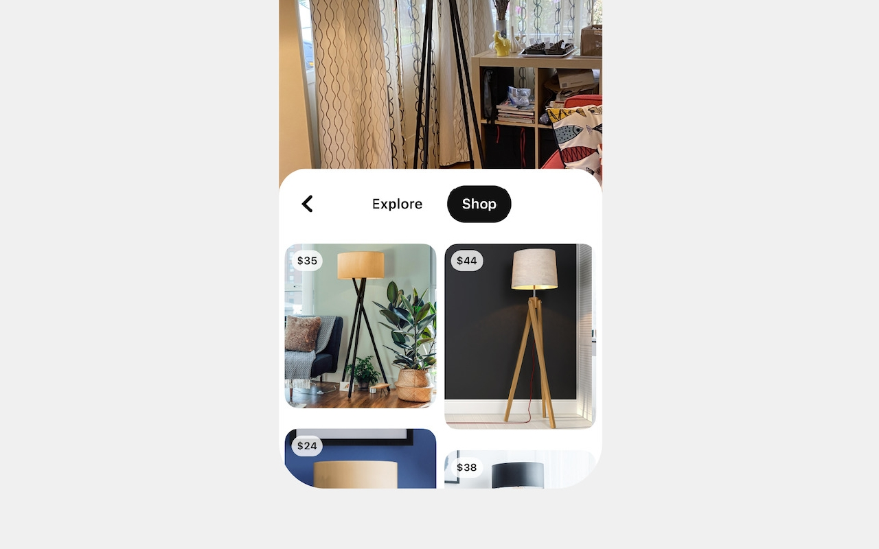 Pinterest 'Shop' tab on Lens Camera makes shopping a surreal experience